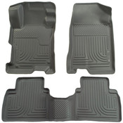 12-13 HONDA CIVIC FRONT & 2ND SEAT CUSTOM MOLDED WEATHERBEATER FLOOR LINERS GREY