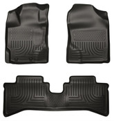 12-16 PRIUS C FRONT/2ND SEAT FLOOR LINER BLACK