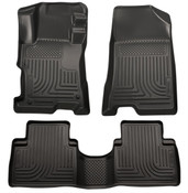 11-14 SONATA FRONT/2ND SEAT CUSTOM MOLDED WEATHERBEATER FLOOR LINERS BLACK