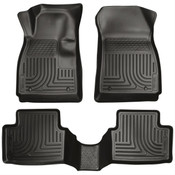 14-16 6 GRAND TOURING/SPORT/TOURING FRONT/2ND SEAT FLOOR LINERS BLACK