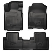 10-14 MUSTANG FRONT & 2ND SEAT WEATHERBEATER FLOOR LINERS BLACK