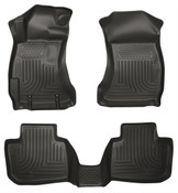 12-16 IMPREZA FRONT/2ND SEAT WEATHERBEATER FLOOR LINERS BLACK