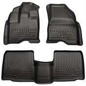 10-15 TAURUS WEATHERBEATER FRONT/2ND SEAT FLOOR LINERS - BLACK
