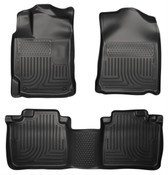 12-17 CAMRY CUSTOM MOLDED FRONT & 2ND SEAT FLOOR LINERS BLACK