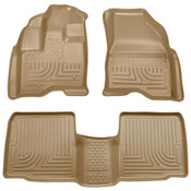 10-15 TAURUS WEATHERBEATER FRONT/2ND SEAT FLOOR LINERS - TAN