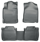 12-17 CAMRY CUSTOM MOLDED FRONT & 2ND SEAT FLOOR LINERS GREY