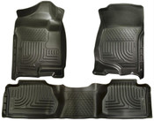 07-13 SILVERADO/SIERRA 1500/07-14 2500/3500 EXT(NOT W/MANUAL SHIFTER)FRONT & 2ND SEAT FLR LINRS BLAC