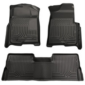 09-14 F150 SUPERCREW WEATHERBEATER FRONT/2ND SEAT FLOOR LINERS BLACK