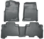 10-13 4RUNNER WEATHERBEATER FRONT & 2ND SEAT FLOOR LINERS BLACK