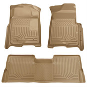09-14 F150 SUPERCREW WEATHERBEATER FRONT/2ND SEAT FLOOR LINERS TAN