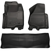 11-12 F250/F350/F450 FORD HD SUPER DUTY CREW CAB W/O MANUAL TRANSFER CASE FRONT/2ND SEAT LINERS BLAC