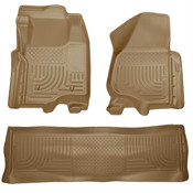 11-12 F250/F350/F450 FORD HD SUPER DUTY CREW CAB W/O MANUAL TRANSFER CASE FRONT/2ND SEAT LINERS TAN