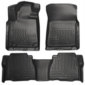 10-11 TUNDRA DOUBLE CAB/CREWMAX CUSTOM MOLDED FRONT & 2ND SEAT FLOOR LINER BLACK