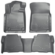 10-11 TUNDRA DOUBLE CAB/CREWMAX CUSTOM MOLDED FRONT & 2ND SEAT FLOOR LINER GREY