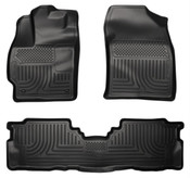 12-16 PRIUS V CUSTOM MOLDED FRONT & 2ND SEAT FLOOR LINERS BLACK