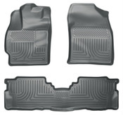 12-16 PRIUS V CUSTOM MOLDED FRONT & 2ND SEAT FLOOR LINERS GREY