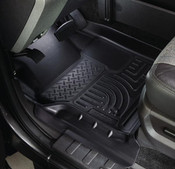 12-16 F250/F350/F450 SUPER DUTY CREW CAB(W/O MAN TRANSFER) FRONT/2ND SEAT FLOOR LINERS BLACK