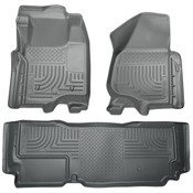 12-16 F250/F350/F450 SUPER DUTY SUPER CAB(W/O MAN TRANSFER) FRONT/2ND SEAT FLOOR LINERS GREY