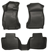 14-17 FORESTER FRONT/2ND SEAT LINERS WEATHERBEATER BLACK