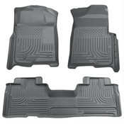 09-14 F150 SUPERCAB WEATHERBEATER FRONT/2ND SEAT FLOOR LINERS GREY