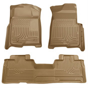 09-14 F150 SUPERCAB WEATHERBEATER FRONT/2ND SEAT FLOOR LINERS TAN