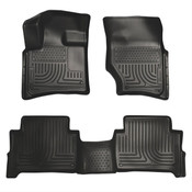 07-15 AUDI Q7 FRONT & 2ND SEAT FLOOR LINERS BLACK