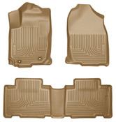 13-16 RAV4 FRONT/2ND SEAT LINERS WEATHERBEATER TAN