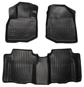 09-13 FIT WEATHERBEATER FRONT & 2ND SEAT FLOOR LINERS BLACK