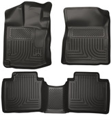 12-14 VENZA FRONT/2ND SEAT FLOOR LINERS BLACK