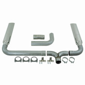 "MBRP 4"" Cat Back/DPF Back SMOKERS™ (incl. B1610 stacks), AL fits 2007.5-2012 Dodge Cummins 6.7L Mega Cab"
