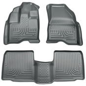 10-15 TAURUS WEATHERBEATER FRONT/2ND SEAT FLOOR LINERS - GREY