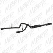 "MBRP 2 1/2"" Cat Back, Dual Rear, Black fits 2015-2017 Ford F150 5.0L"