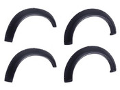 1999-2007  Ford    F250      BOLT-ON LOOK; FENDER FLARE SET OF 4; NO-DRILL; FRONT AND REAR; MATTE BLACK FINISH;  TIRE COVERAGE 2in HEIGHT 6in
