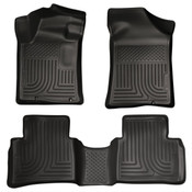 13-13 ALTIMA CUSTOM MOLDED WEATHERBEATER FRONT & 2ND SEAT FLOOR LINERS BLACK