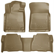 10-11 TUNDRA DOUBLE CAB/CREWMAX CUSTOM MOLDED FRONT & 2ND SEAT FLOOR LINER TAN