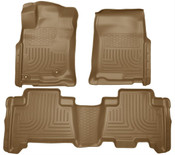 10-13 4RUNNER WEATHERBEATER FRONT & 2ND SEAT FLOOR LINERS TAN