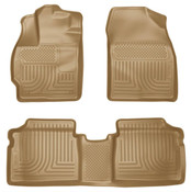 10-14 PRIUS WEATHERBEATERS FRONT/2ND SEAT FLOOR LINERS TAN