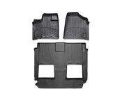 Black Front and rear Floorliners Chrysler Town & Country 2008 - 2011 Fits vehicles with 2nd Row Bucket seating.  With Stown Go