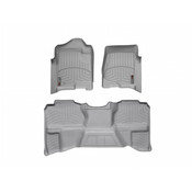 Grey Front and Rear Floorliners Chevrolet Silverado 2007 - 2007 Fits Extended Cab only  New Body Style