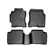 Black Front and Rear Floorliners Toyota Corolla 2003 - 2008 Fits vehicles with Front row heating vents