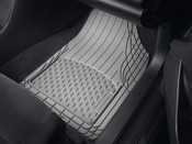 2009 - 2010 Pontiac Vibe Black Front and Rear Rubber Mats  / 2009 - 2011 Toyota Corolla Black Front and Rear Rubber Mats  /  2009 - 2011 Toyota Matrix Black Front and Rear Rubber Mats