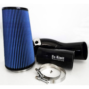 6.0 Cold Air Intake 03-07 Ford Super Duty Power Stroke Black Oiled Filter No Limit Fabrication