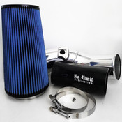 6.0 Cold Air Intake 03-07 Ford Super Duty Power Stroke Polished Oiled Filter No Limit Fabrication