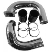 6.0 Intercooler Pipe Kit 03-07 Ford Super Duty Power Stroke Coldside Polished Aluminum No Limit Fabrication