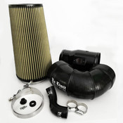 6.4 Cold Air Intake 08-10 Ford Super Duty Power Stroke Black PG7 Filter for Mod Turbo 5 Inch Inlet No Limit Fabrication