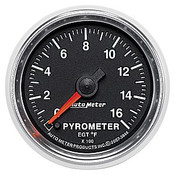 Autometer 2-1/16 In. Pyrometer, 0- 1600`F, Fse, Gs