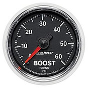 Autometer 2-1/16 In. Boost, 0-60 Psi, Mech, Gs