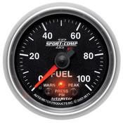 Autometer 2-1/16in FUEL PRESS 0-100 PSI, FSE SPORT COMP II W/ PRO CONTROL