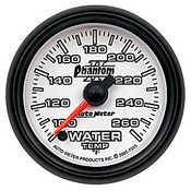 Autometer Phantom 2 Water Temp 100-260, (Fs) Elec 2-1/16In.