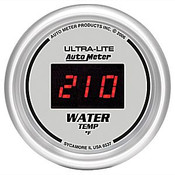 "Autometer Digital Silver, 2-1/16"", Water Temperature 0-300 Degrees"
